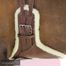 Load image into Gallery viewer, Kentaur Camarque Stud Girth with Sheepskin Tobacco / 60cm jumping girths