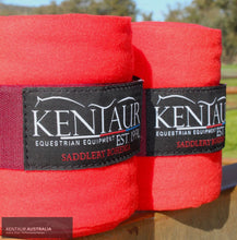 Load image into Gallery viewer, Kentaur 'Fleece' Bandages Red Bandages/ Underwraps
