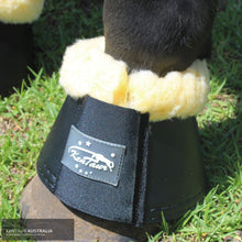 Load image into Gallery viewer, Kentaur Leather Bell Boots With Genuine Sheepskin Black / Small (20cm) Bell Boots