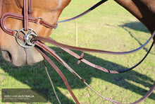 Load image into Gallery viewer, Kentaur Leather Draw Reins Training Aids