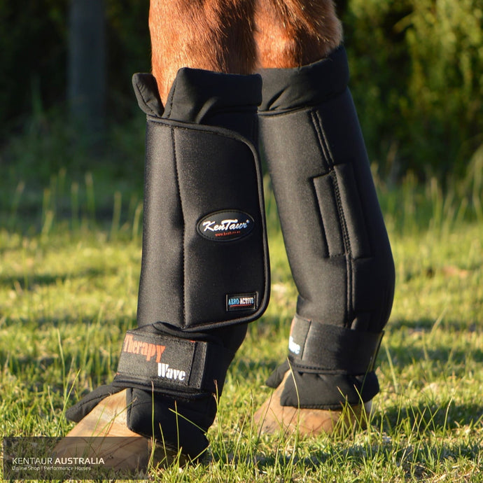 Kentaur Magnetic Therapy Wave Pro Front Stable Boots Black / Full Stable Boots