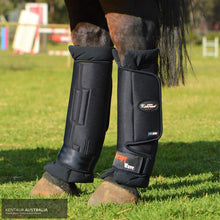 Load image into Gallery viewer, Kentaur Magnetic Therapy Wave Pro Hind Stable Boots Black / Full Stable Boots