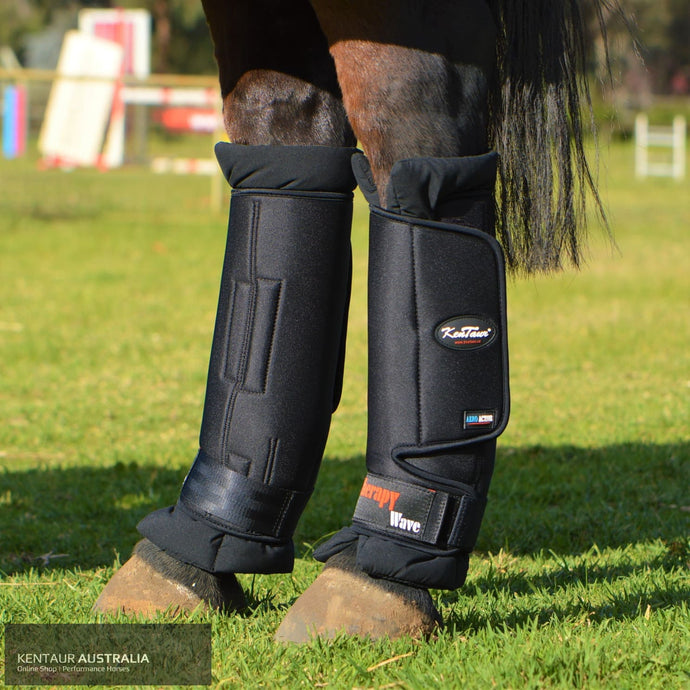 Kentaur Magnetic Therapy Wave Pro Hind Stable Boots Black / Full Stable Boots