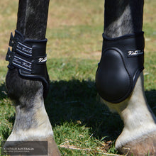 Load image into Gallery viewer, Kentaur Mega Jump Hind Boots Black / One Size Fits Cob + Full Jumping