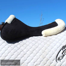 Load image into Gallery viewer, Kentaur Memory Foam Half Pad with Artificial Sheepskin Jumping / White Saddle Pad
