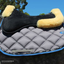Load image into Gallery viewer, Kentaur Memory Foam Half Pad With Sheepskin Saddle Pad