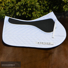 Load image into Gallery viewer, Kentaur Neo Non Slip Saddle Pad White / Jumping Saddle Pad