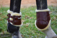 Load image into Gallery viewer, Kentaur Oxford Sheepskin Hind Show Jumping Boots Jumping Boots