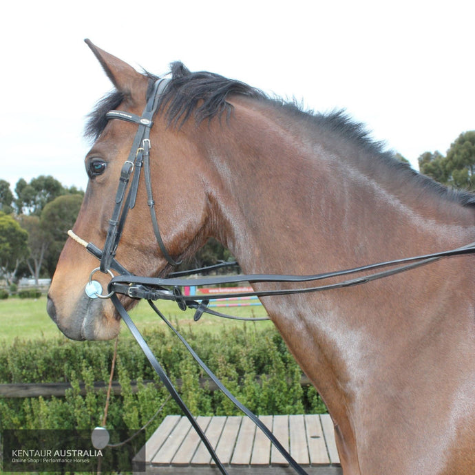 Kentaur Profi Draw Reins Black Training Aids