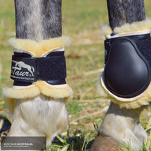 Load image into Gallery viewer, Kentaur Profi Hind Jumping Boots With Sheepskin Black / Full Jumping Boots