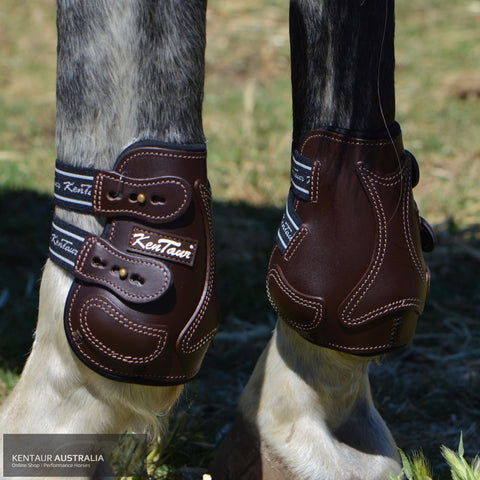 Kentaur Roma Flicker Hind Boots Brown / Full Training Jumping Boots