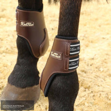 Load image into Gallery viewer, Kentaur Roma Leather Hind Boots Brown / Pony Jumping