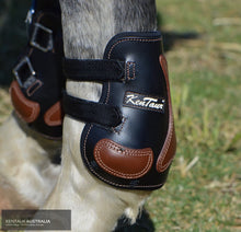 Load image into Gallery viewer, Kentaur Roma Pinch Rear Boots Black/ Tobacco / Full Jumping