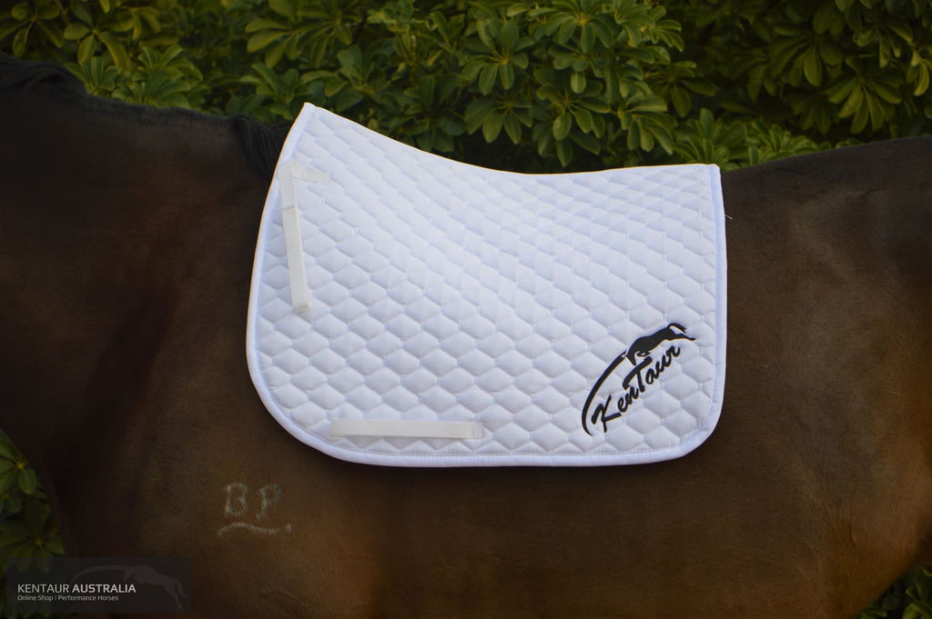 Kentaur Saddle Pad White / Dressage Full Cloth