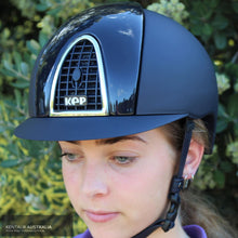 Load image into Gallery viewer, Kep Cromo Textile With Polish Inserts Grid And Visor Helmet Kep Helmets