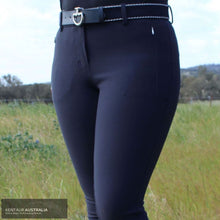 Load image into Gallery viewer, Lauria Garrelli 'Basic Italy' Womens Casual Breeches Deep Blue / AU 12 Casual Breeches
