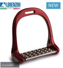 Load image into Gallery viewer, Lorenzini Titanium Jumping Stirrups Red Saddle Accessories