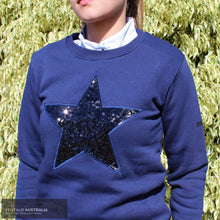 Load image into Gallery viewer, Montar Amber Womens Sweatshirt Navy / Small Jumpers And Jackets
