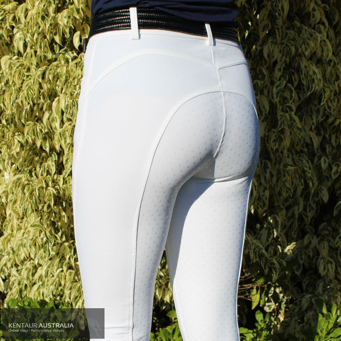 Montar Ess Normal Waist Womens Competition Breeches White / 36 (Au8) / Full Seat Competition Breeches