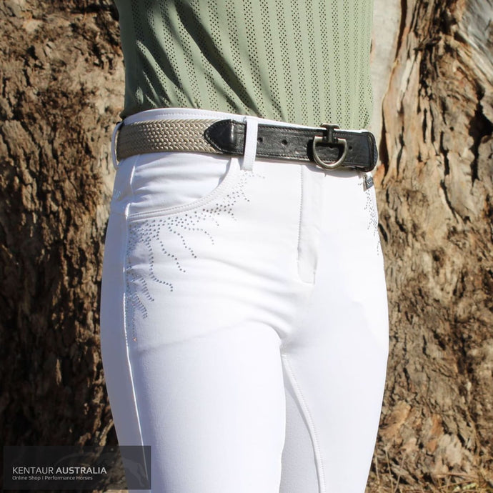 Montar 'Femke Crystal' Womens Competition Breeches White / AU 8 Competition Breeches