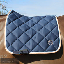 Load image into Gallery viewer, Montar 'Lago' Dressage Saddle Pad Navy / Full Saddle Pad