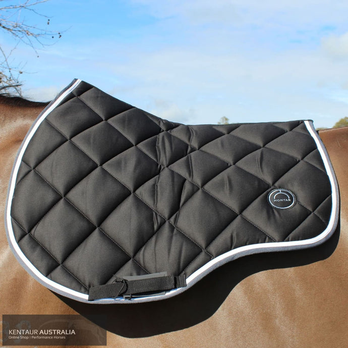 Montar 'Lago' Jumping Saddle Pad Black / Full Saddle Pad