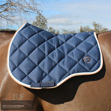 Load image into Gallery viewer, Montar 'Lago' Jumping Saddle Pad Navy / Full Saddle Pad