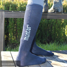 Load image into Gallery viewer, Montar Logo Socks Navy / 35-39 Socks