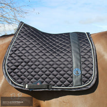 Load image into Gallery viewer, Montar 'Modena' Jumping Saddle Pad Black / Full Saddle Pad