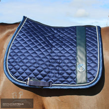 Load image into Gallery viewer, Montar 'Modena' Jumping Saddle Pad Navy / Full Saddle Pad