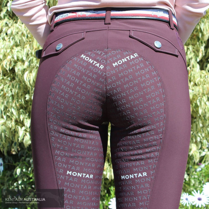 Montar Peyton Normal Waist Womens Causal Breeches Plum / 38 (AU10) Casual Breeches