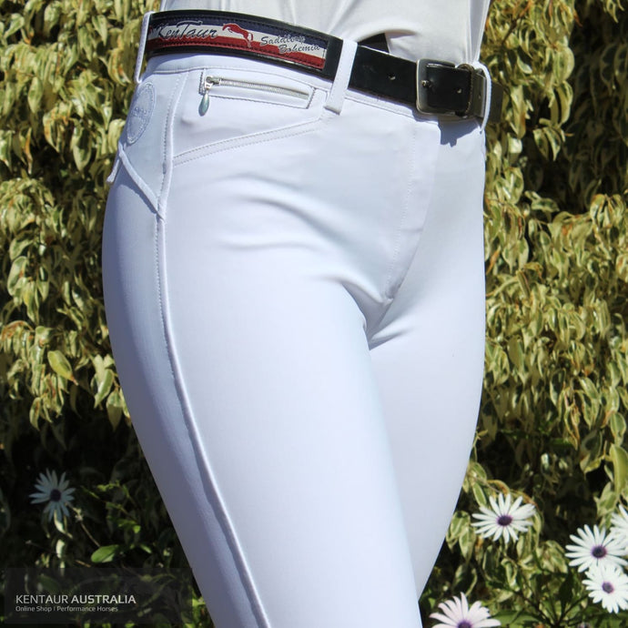 Montar Peyton Normal Waist Womens Competition Breeches White / 38 (AU10) Competition Breeches