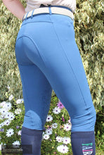 Load image into Gallery viewer, Montar Plain Ess Womens Casual Breeches Mid-Blue / 40 (Au12) / Knee-Grip Casual Breeches