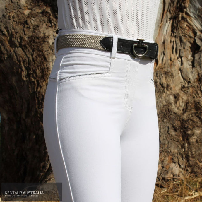 Montar 'Romy' Womens Competition Breeches White / AU 12 Competition Breeches