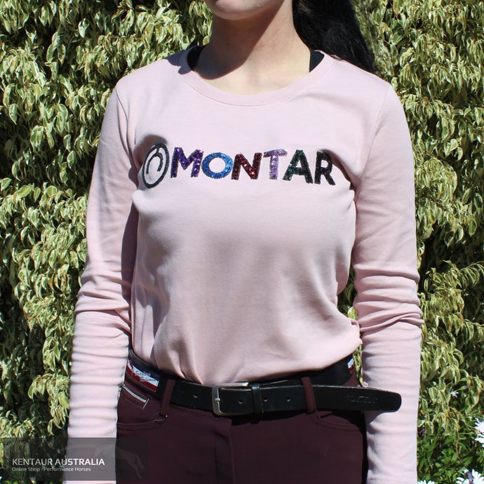Montar Shirley Sequin T-Shirt Pink / S Polo Shirts & Jerseys