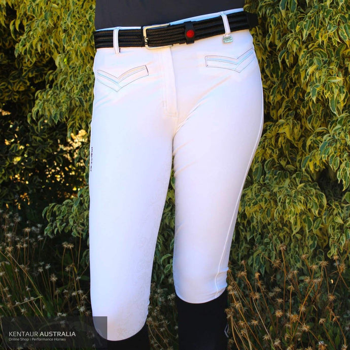 Montar Skye Womens Competition Breeches White/eggplant / 38 (Au10) / Knee Grip Competition Breeches