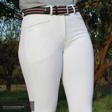 Load image into Gallery viewer, Montar 'Skyler' Womens Competition Breeches White / AU 8 Competition Breeches