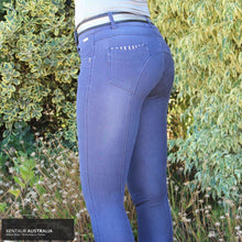 Load image into Gallery viewer, Montar 'Tilly' Womens Causal Breeches Denim / AU 10 / Knee Grip Casual Breeches