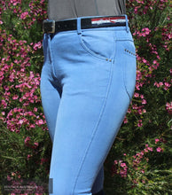 Load image into Gallery viewer, Montar Valeria Womens Denim Breeches Casual Breeches