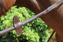 Load image into Gallery viewer, Montar Web Reins with French Hooks Brown / Cob / Yes Bridles