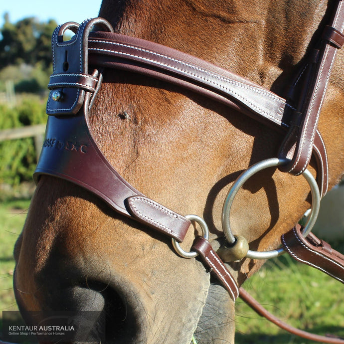 Silver Crown Flash + X Nose Noseband Bridles