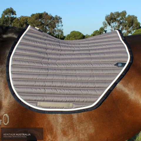 Silver Crown Slimline Saddle Pad Grey/white/black / Full Saddle Pad