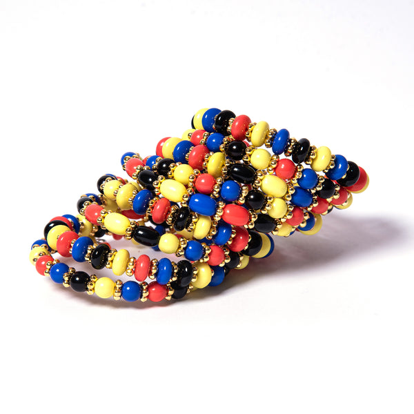 multi color statement coil bracelet fashionable luxurious