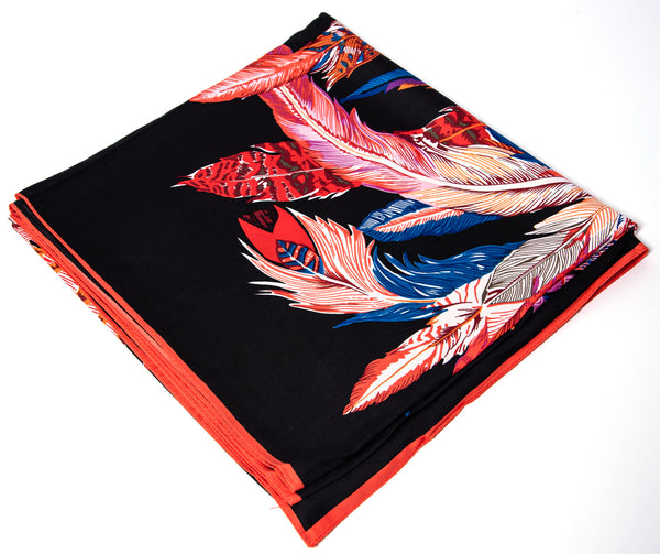 beautiful large statement scarf black pink