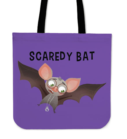 Scaredy Bat Tote - Blue - Code Pineapple