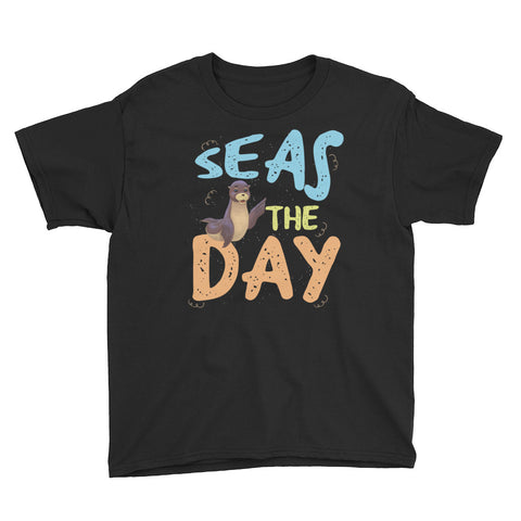 Seas the Day3 Youth Short Sleeve T-Shirt - Code Pineapple