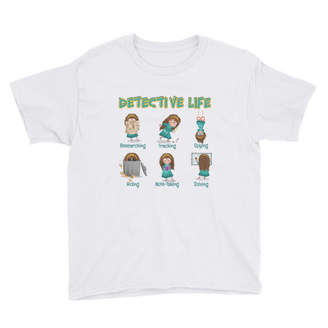 Detective Life T-Shirt Youth Short Sleeve
