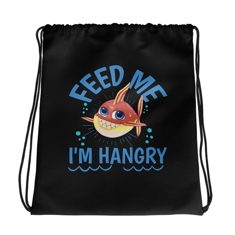 Feed Me I'm Hangry Drawstring bag - Code Pineapple
