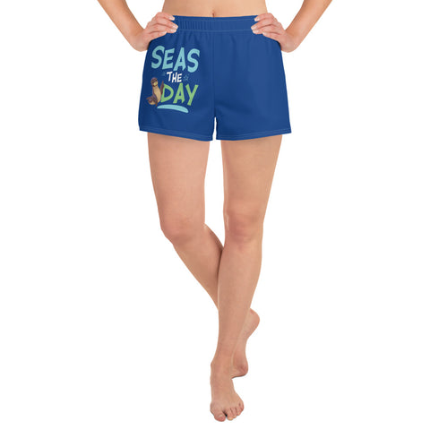 Seas the Day2 Women's Athletic Short Shorts - Code Pineapple