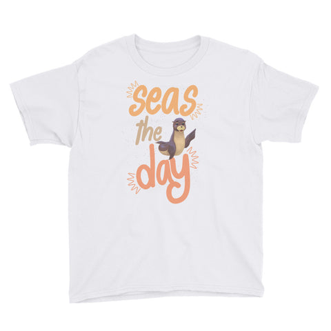 Seas the Day1 Youth Short Sleeve T-Shirt - Code Pineapple